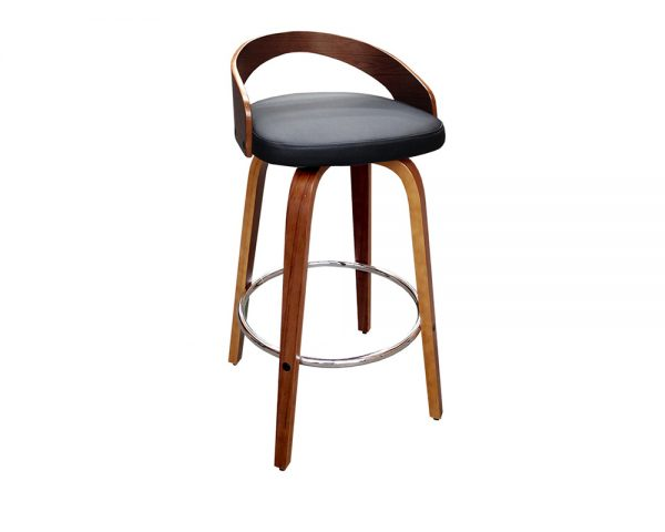 cheetah1 600x480 - Cheetah Barstool - Black on Walnut