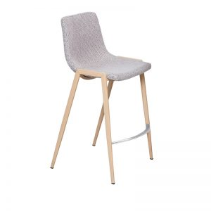 hudson1 300x300 - Hudson Barstool - Beige Fabric on OAK Metal Frame