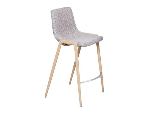 hudson1 500x400 - Hudson Barstool - Beige Fabric on OAK Metal Frame