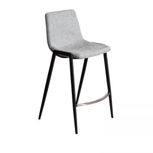 hudson2 300x300 - Hudson Barstool - Grey Fabric on Black Metal Frame