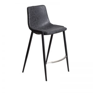 hudson3 300x300 - Hudson Barstool - Black on Black Metal Frame