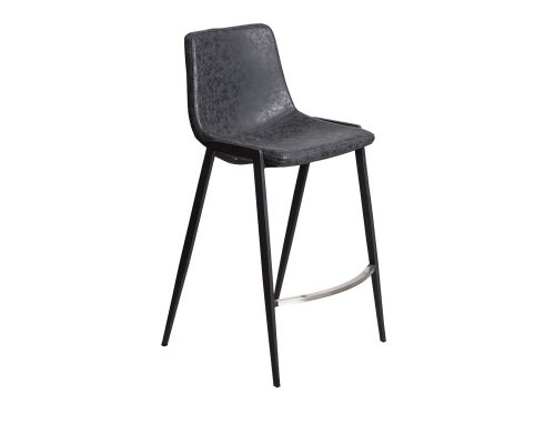 hudson3 500x400 - Hudson Barstool - Black on Black Metal Frame