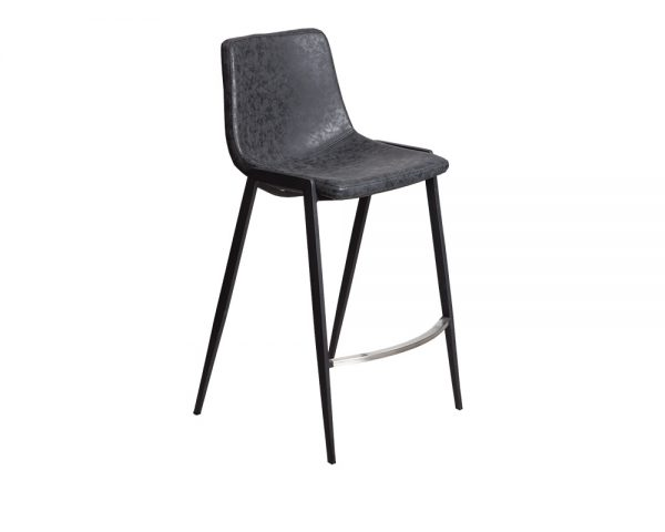 hudson3 600x480 - Hudson Barstool - Black on Black Metal Frame