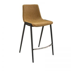 hudson4 300x300 - Hudson Barstool - Rust on Black Metal Frame