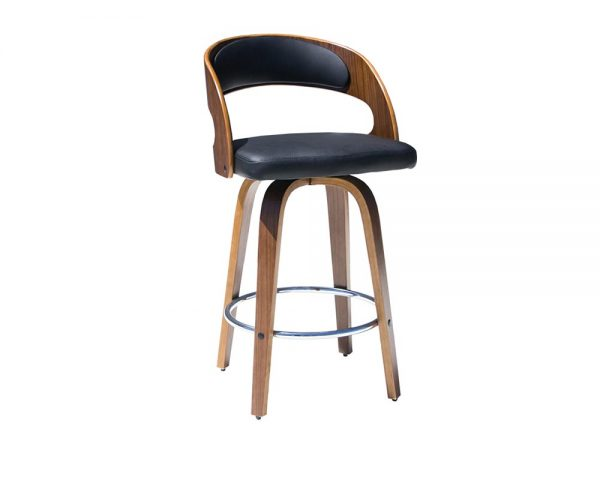 leopard1 600x480 - Leopard Barstool - Black on Walnut