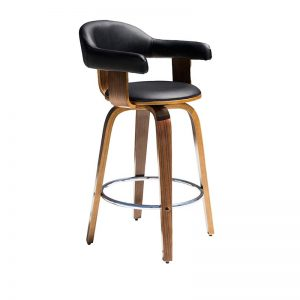 lion1 300x300 - Lion Barstool - Black on Walnut