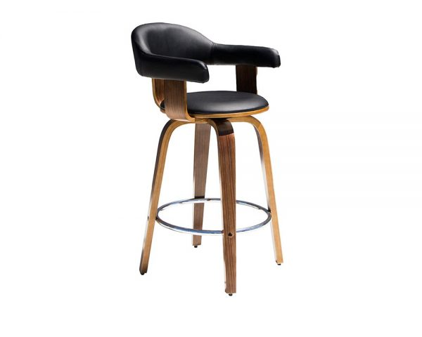 lion1 600x480 - Lion Barstool - Black on Walnut