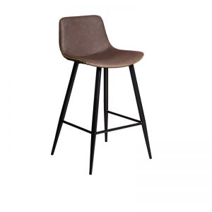 mendelf2 1 300x300 - Mendel Bar Stool - 4 Leg Base - Brown