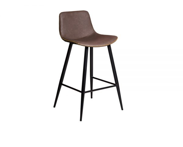 mendelf2 1 600x480 - Mendel Bar Stool - 4 Leg Base - Brown