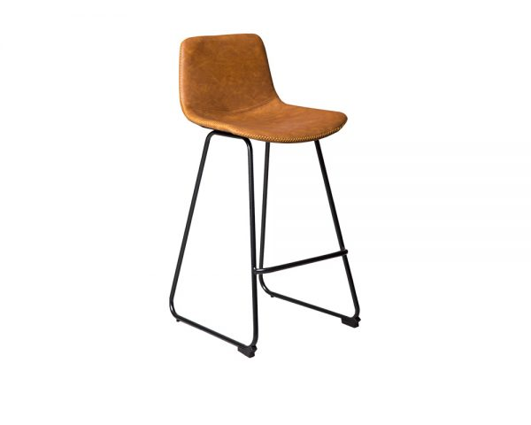 mendels2 600x480 - Mendel Bar Stool - Skid Base - Rust