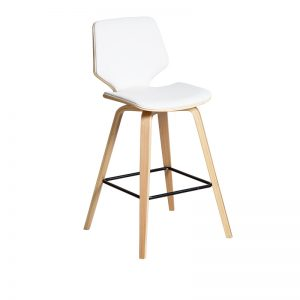 ryde2 300x300 - Ryde Barstool - White on Oak Frame