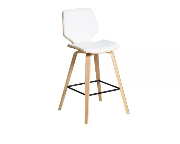 ryde2 600x480 - Ryde Barstool - White on Oak Frame