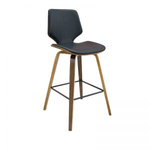ryde3 300x300 - Ryde Barstool - Black on WALNUT Frame