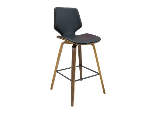 ryde3 500x400 - Ryde Barstool - Black on WALNUT Frame
