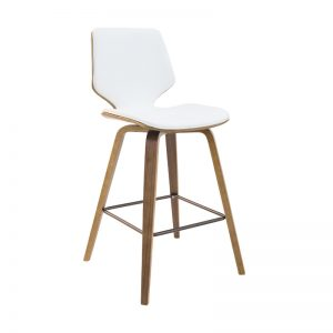 ryde4 300x300 - Ryde Barstool - White on WALNUT Frame