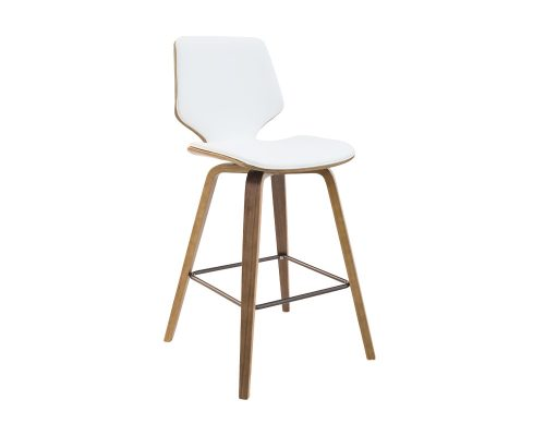 ryde4 500x400 - Ryde Barstool - White on WALNUT Frame