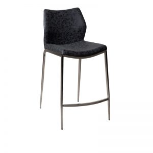 spencer1 300x300 - Spencer Bar Stool - Black - Black Metal or Stainless Steel Frame