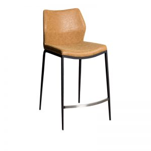 spencer2 300x300 - Spencer Bar Stool - Rust - Black Metal Frame