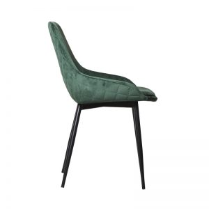 tilley2 300x300 - Tilley Dining Chair -Green Velvet on Black Frame