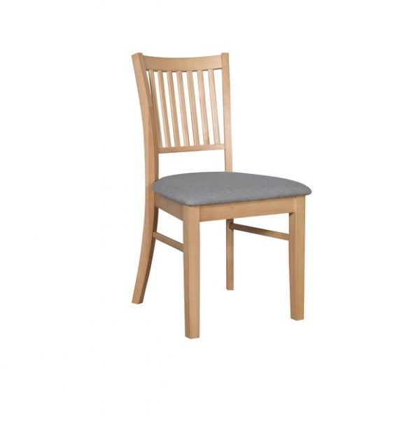 DC0004 600x602 - Austria Dining Chair - Natural Frame Truffle Fabric Seat
