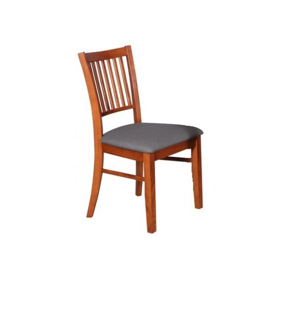 DC0005 600x602 - Austria Dining Chair - Antique Maple Frame Truffle Fabric Seat