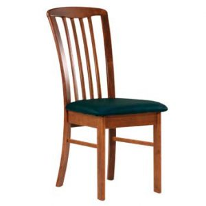 DC0013 300x300 - REIM Dining Chair - Antique Maple Frame Black PU Seat