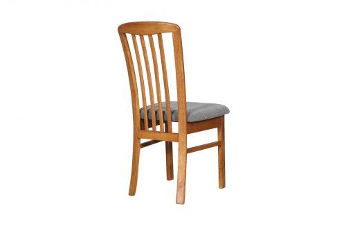 DC0014 500x333 - REIM Dining Chair - Teak Frame Graphite Fabric Seat
