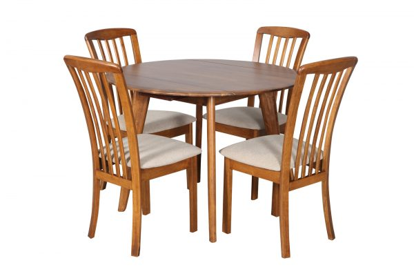 DC0037 1 600x400 - Drop-Side Round Dining Table Teak