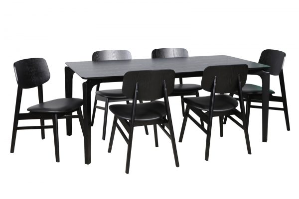 DC0041 1 600x400 - Nordic 1800mm Dining Table - Black