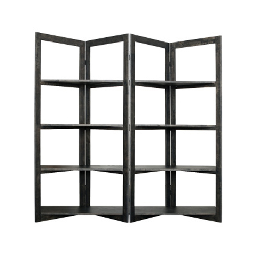 DC0059 - Scandi Room Divider Shelving - Black Wash
