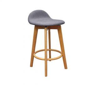 HF0043 300x300 - Caulfield Bar Stool - Natural Frame Truffle Fabric Seat