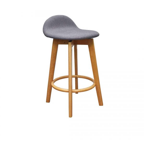 HF0043 600x600 - Caulfield Bar Stool - Natural Frame Truffle Fabric Seat