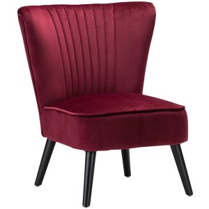 Ayana Velvet Slipper Accent Chair 14 300x300 - Velvet Slipper Accent Chair-Red