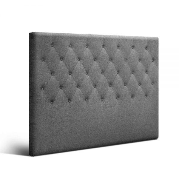 BFRAME E HEAD Q GY 00 600x600 - Arthur Upholstered Headboard Light Grey-Double