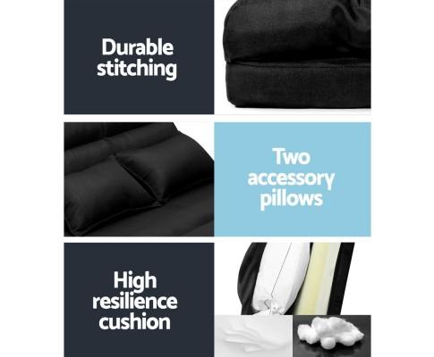 FLOOR SBL 200LIN S BK 05 - Argus Floor Lounge Sofa Bed - Black