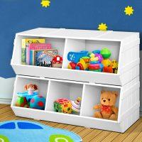 FURNI G TOY203 WH 06 - Noni Kids Toy Storage Box - White