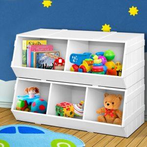 FURNI G TOY203 WH 06 300x300 - Noni Kids Toy Storage Box - White