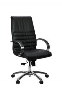 FranklinHB 1 600x902 - Franklin High Back Office Chair - Black Leather