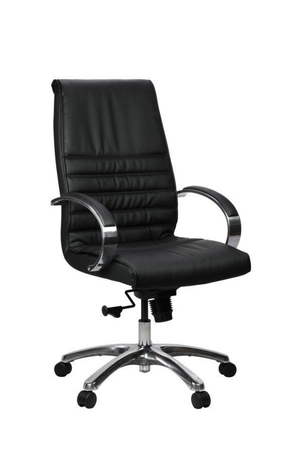 FranklinHB 1 600x902 600x902 - Franklin High Back Office Chair - Black Leather