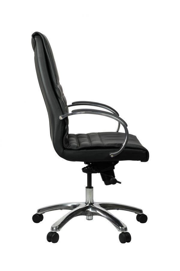 FranklinHB 3 600x902 - Franklin High Back Office Chair - Black Leather