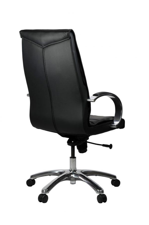 FranklinHB 4 600x902 - Franklin High Back Office Chair - Black Leather