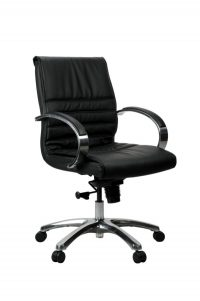 FranklinMB 1 600x902 - Franklin Mid Back Office Chair - Black Leather