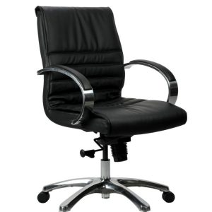 FranklinMB 1 600x902 300x300 - Franklin Mid Back Office Chair - Black Leather