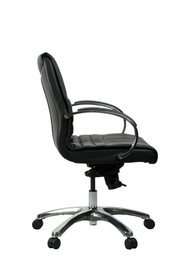 FranklinMB 4 600x902 - Franklin Mid Back Office Chair - Black Leather
