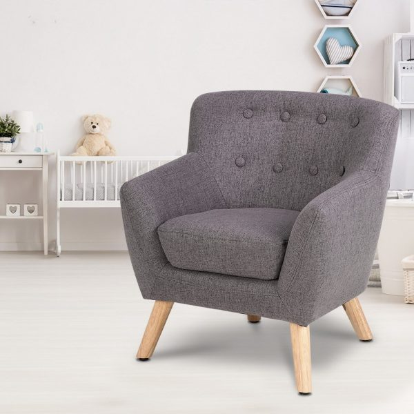 KID CHAIR A5 GY 06 600x600 - Charlie French Armchair - Grey