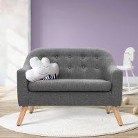 KID CHAIR A6 LIN GY 06 - Nano Kids Couch - Grey