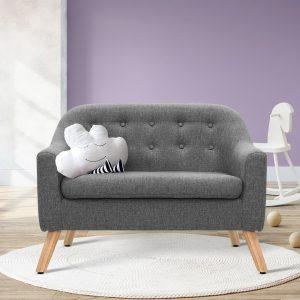 KID CHAIR A6 LIN GY 06 300x300 - Nano Kids Couch - Grey