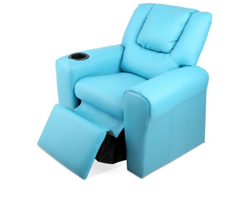 KID RECLINER BU 05 - Amy Kids Recliner Armchair - Blue