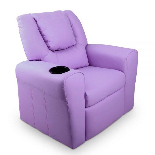 KID RECLINER PUR 00 600x600 - Amy Kids Recliner Armchair - Purple