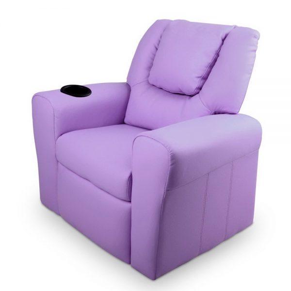 KID RECLINER PUR 02 600x600 - Amy Kids Recliner Armchair - Purple